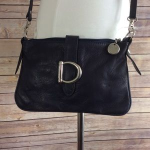 Handbags - Navy Italian Leather Crossbody New